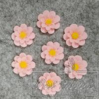 С-ка Цветок М-ША 1.7 см, розовая- 50 шт.