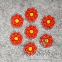 С-ка Цветок М-ША 1.7 см, красная- 50 шт.