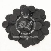 Фетровые кружочки  2.5 см, черные