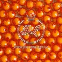 Хрусталька  -жемчуг  10 мм, оранжевая ( 500 гр.)