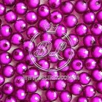Хрусталька  -жемчуг  10 мм , темно-фиолетовая ( 500 гр.)