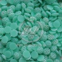 С-ка пластик -пупер Перламутр 1 см, мятный