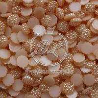 С-ка пупер пластик  1 см, персиковые