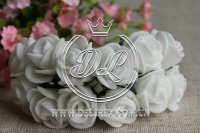 Роза  из Фома 1.5 см, белая