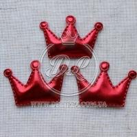 Апликация корона ЭКО, красная (25 шт.)