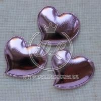 Аппликация  сердечко ЭКО, розовое  ( 25 шт.)