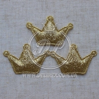 Аппликация корона БЛЕСК, золото  (25 шт.)