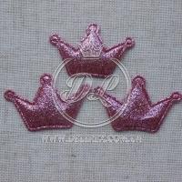 Аппликация корона БЛЕСК , розовая (25 шт.)
