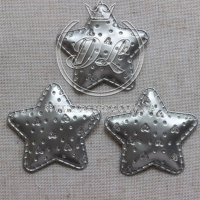 Апликация  ЗВЕЗДОЧКА + СЕРДЕЧА эко, серебро