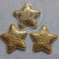 Апликация ЗВЕЗДОЧКА + СЕРДЕЧКА  эко, золото
