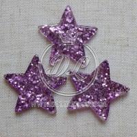 Пластик -пайетка звездочка, фиолетовая (25 шт.)