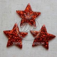 Пластик -пайетка звездочка, красная (25 шт.)
