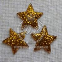 Пластик -пайетка звездочка, золото ( 25 шт.)