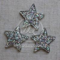 Пластик -пайетка звездочка, серебро ( 25 шт.)