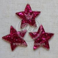 Пластик -пайетка звездочка , малиновая (25 шт.)