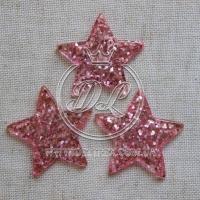 Пластик -пайетка звездочка , розовая (25 шт.)