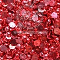 П-Сы глянцевые 8 мм, красные