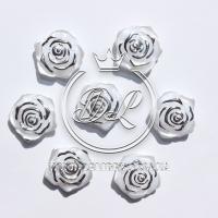 С-ка ТВ роза перламутр, бело-серебристая (100 шт.)