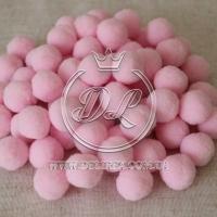 Помпоны 2 см VIP, св.розовые