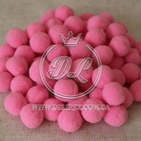 Помпоны 2 см VIP, яр.розовый