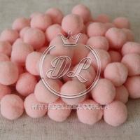 Помпоны 2 см VIP, розово-персиковый