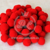 Помпоны 2 см VIP, красные