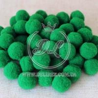 Помпоны 2 см VIP, зелёные