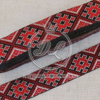 УКР.орнамент 2.8 см, темно-красный