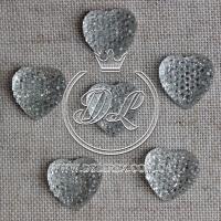С-ка Сердце пупер 10 мм, серебро-500 шт.