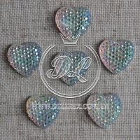 С-ка Сердце пупер 16 мм, серебро-перламутр-250 шт.