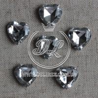 С-ка сердце Бриллиант 16 мм, серебро -250 шт.