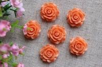 С-ка роза акрил 1см , оранжевая