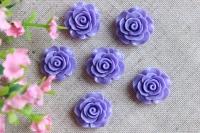 С-ка роза акрил 1см , фиолетовая