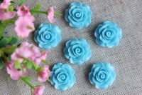С-ка роза акрил 2 см , бирюзовая