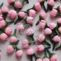 Бутоны мини розочек 1.5 см , розовые