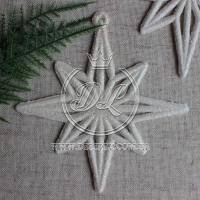Звездочка новогодняя 9 см , Большая белая