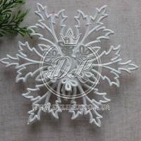 Снежинка 13 см, белая (заготовка)-1 шт. #002