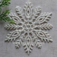 Снежинка с присыпкой 10.5 см, белая #1