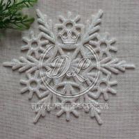 Снежинка с присыпкой 11 см, белая # 13
