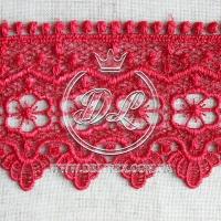 Кружево #10770 темно-красное