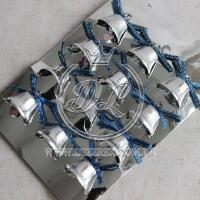 Колокольчики , серебро-синий бант (маленькие)