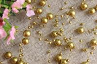 Бусы на леске 3 мм-8 мм, золото