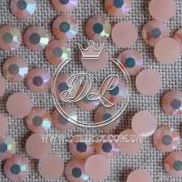 Стразы 7 мм. перламутр-персиковые