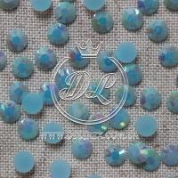 Стразы 7 мм. перламутр-голубые