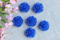 С-ка роза акрил 1см , синяя