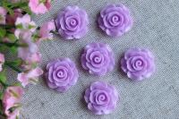С-ка роза акрил 2 см , светло-фиолетовая