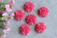 С-ка роза акрил 2 см , ярко-розовая