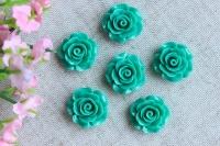 С-ка роза акрил 2 см ,  зеленая
