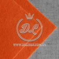 Фетр 1 мм, оранжевый