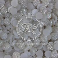 С-ка пластик -пупер Перламутр 1 см, белый